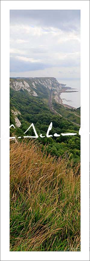 Poster Art Photo Folkestone Cliffs - Kent - British Coast - Cote Anglaise - Image Christophe Schambert