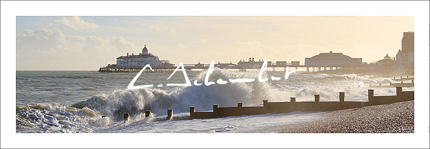 Poster Art Photo Eastbourne Pier - East Sussex - British Coast - Cote Anglaise - Image Christophe Schambert