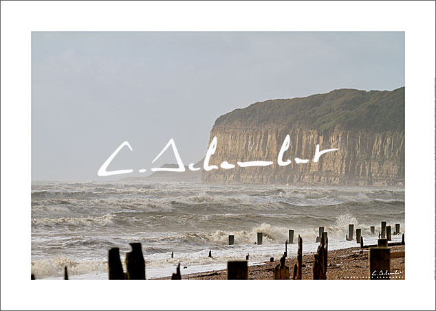 Poster Art Photo Fairlight Cliffs - East Sussex - British Coast - Cote Anglaise - Image Christophe Schambert