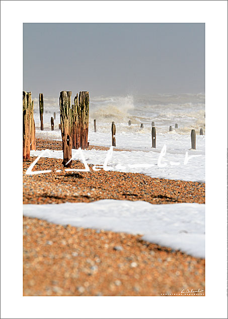 Poster Art Photo Fairlight Beach - East Sussex - British Coast - Cote Anglaise - Image Christophe Schambert
