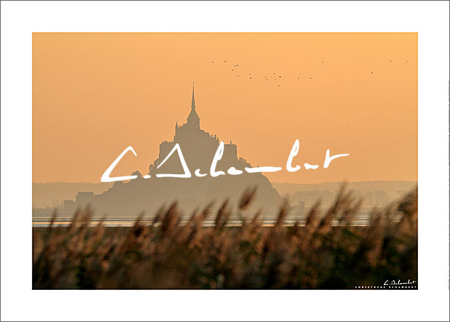 Poster Photo Mont-Saint-Michel - Normandie - France - Christophe Schambert