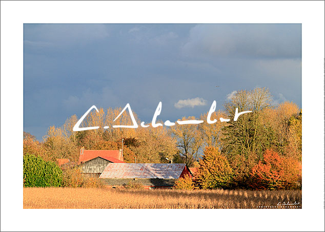 Poster Photo Automne Village Campagne Artois - Hauts-de-France - Campagne de France - Photographie Nature et Paysages - Nature and Landscape Photography - Christophe Schambert